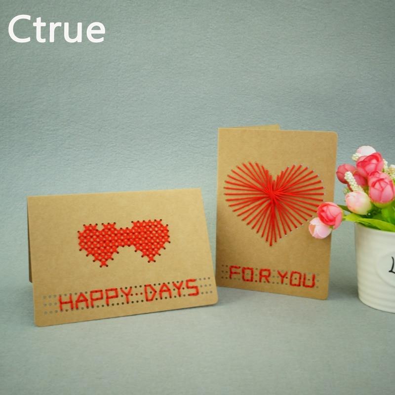 Ctrue 1 Set DIY handmade Kreuzstich Karten Geburtstagskarte - Partyartikel und Dekoration