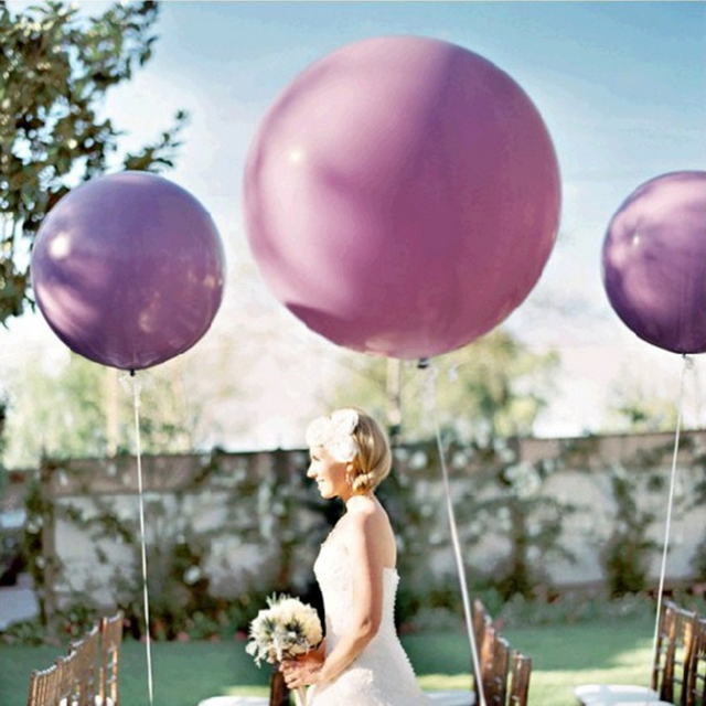 1pc 36Inch Giant Clear Balloon Latex Balloons Birthday Wedding Decoration Inflatable Helium Balloons Happy Birthday Party Ballon 5