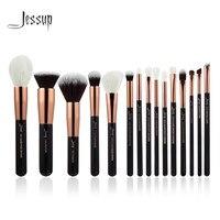 Jessup Rose Gold Black Professional Makeup Brushes Set Make Up Brush Tools Kit Foundation Powder Definer