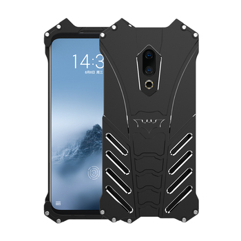 R-JUST Batman Armor Heavy Dust Rugged Outdoor Metal Aluminum Shockproof Powerful Kickstand Cover Case for 16TH / 16TH PLUS image