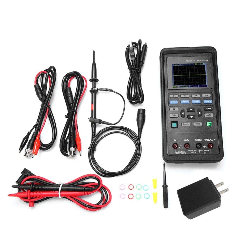 Hantek2D72/2D42 цифровой осциллограф Универсальный мультиметр 25 м генератор сигналов AC100 240V 70 МГц/40 МГц 2CH Ручной осциллограф