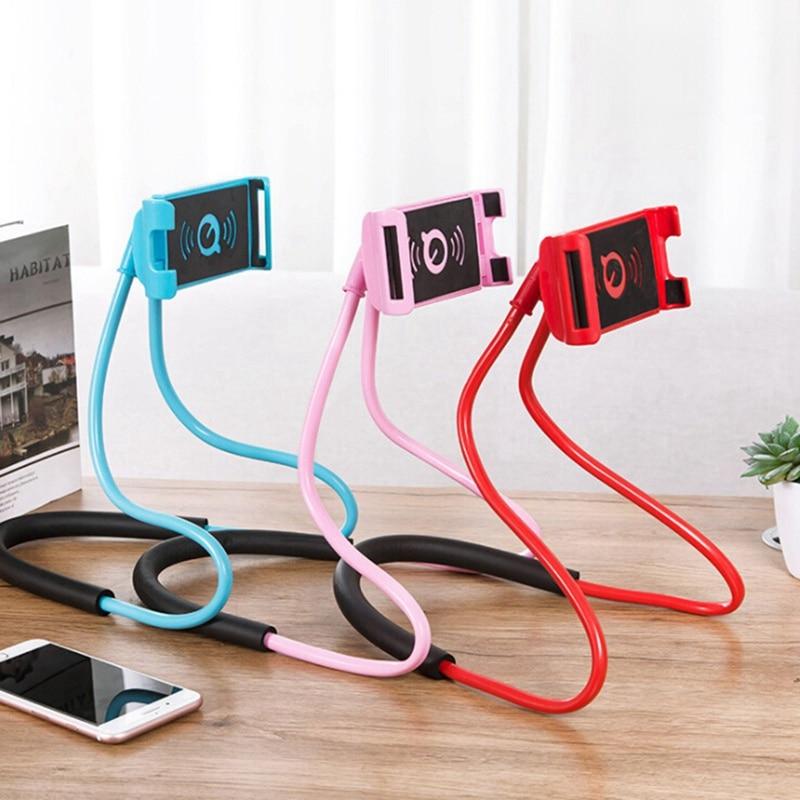 Smartphone Holder Holder Hanging   Neck Lazy Necklace Bracket Universal Smartphone New Flexible Mobile Phone   Stand For
