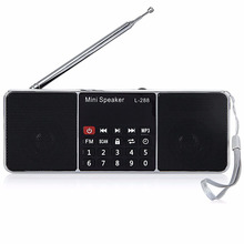 Digital Radio AM/FM Speakers 3.5mm AUX Line-in MP3 Player TF/SD Card LED Display Screen L-288 Mini Portable Speaker For Phone