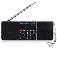 Digital Radio AM/FM Speakers 3.5mm AUX Line-in MP3 Player TF/SD Card LED Display Screen L-288 Mini Portable Speaker For Phone цена в Москве и Питере