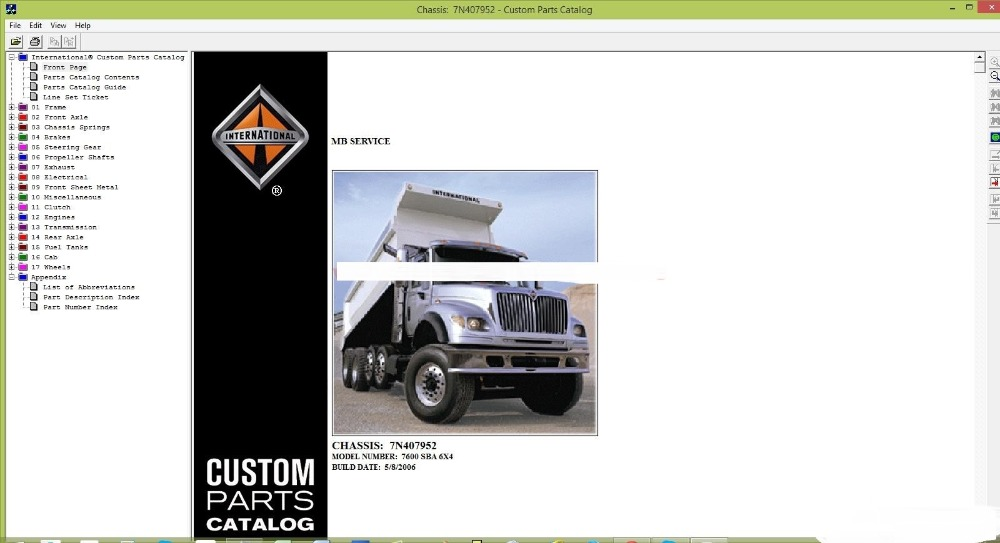 International Custom Parts Catalog 2006-in Software from Automobiles