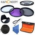 67 мм УФ CPL FLD Крупным Планом + 10 Объектива Аксессуар Комплект Фильтров для Canon 7D 700D 60D 650D 550D Nikon D7100 D80 D90 D7000 D5200 D3200