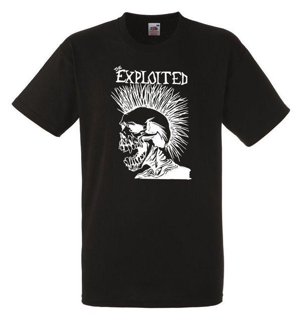 67843f348 The Exploited Logo Black Herren T shirt Men Rock Band Tee Shirt-in T ...