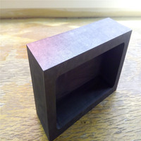 180x100x50mm Graphite Tank Squre Crucible For Melting Casting