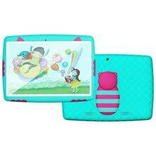 """2017 Original 10 """"bebé almohadilla 1280*800 IPS A33 Quad Core Android 5.1 Tablet PC 1G/16G Funda de Silicona para Los Niños de Color Caramelo"""