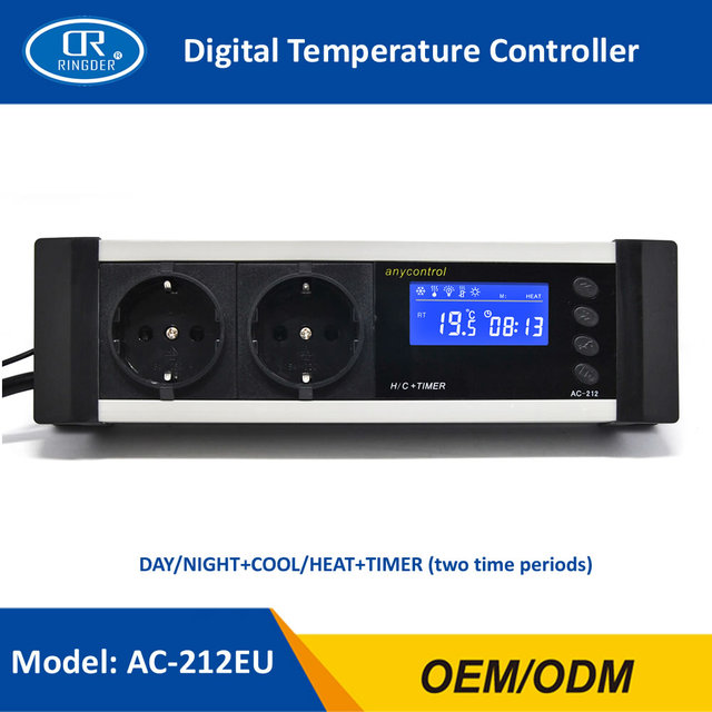 ringder ac 212 0 50c day night on off digital reptile thermostat rh aliexpress com Hydrofarm Thermostat for Reptiles Humidistat Thermostat