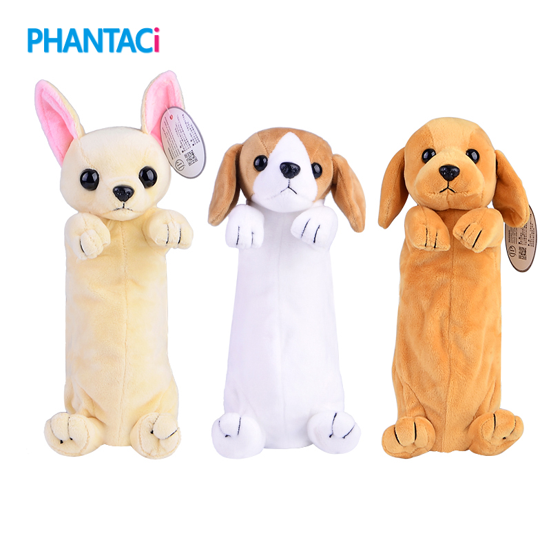 Cute Cartoon Dog Pencil Case Zipper Kawaii Novelty Children Gift Pen Bags For Boys Girls Student School Stationery Supplies