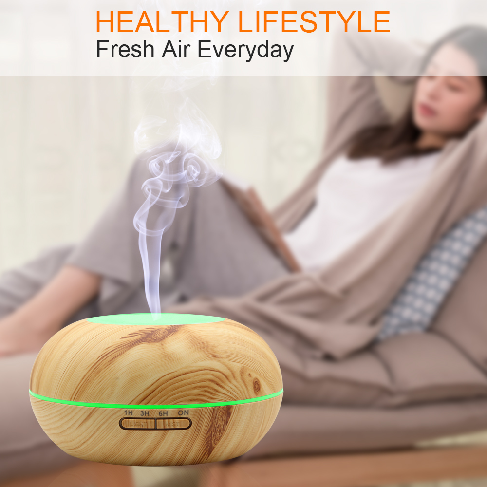 DCONG Humidificador 300ml Aroma Diffuser Umidificador De Ar Ultrasonic Humidifier Air Humidifier Essential Oil Diffuser