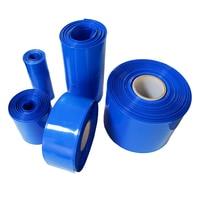 PVC 1 meters long 1 blue  PVC heat shrinkable tube Battery pack PVC Heat Shrinkable tubing Heat Shrinkable