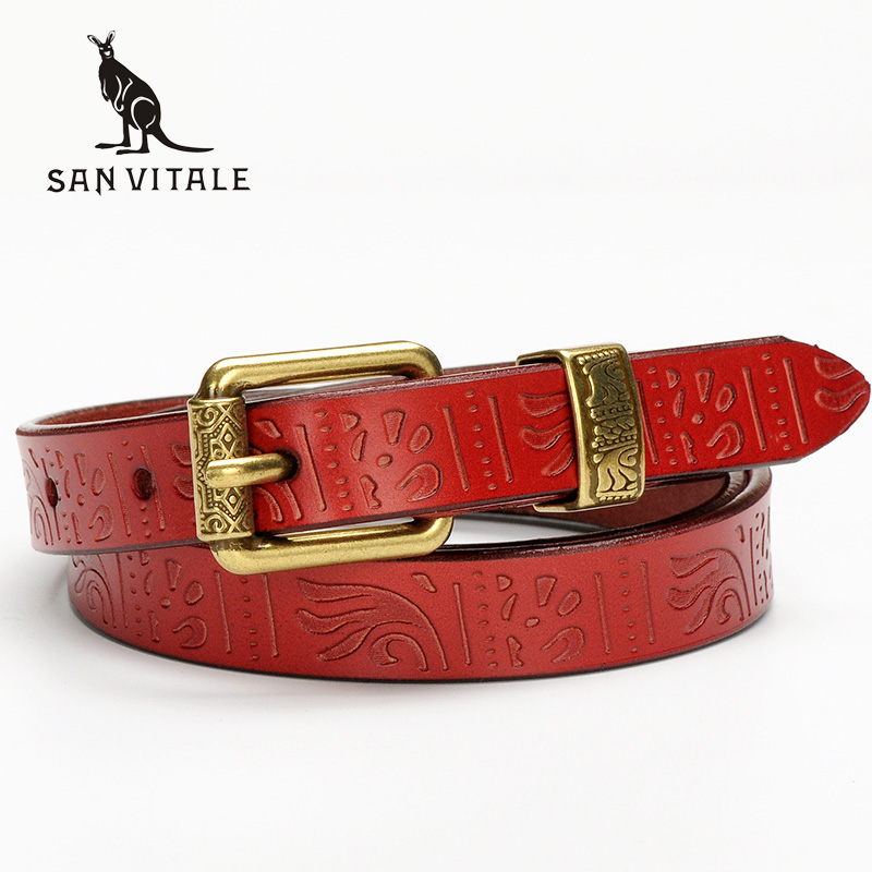 New Women Fashion <font><b>Belts</b></font> with Genuine Leather Buckles Waistband Luxury for Jeans Dress Female Top Quality Straps Ceinture Femme image