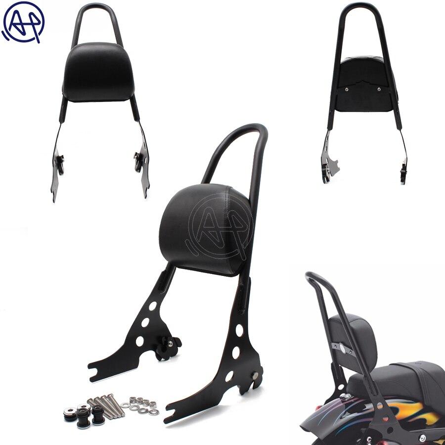 1 комплект черный съемный сидси бар мотоцикл пассажирская спинка для Harley Davidson Sportster 1200 883 XL 04 UP