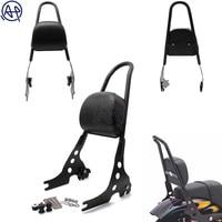 1set Black Detachable Sissy Bar Motorcycle Passenger Backrest for Harley Davidson Sportster 1200 883 XL 04 UP