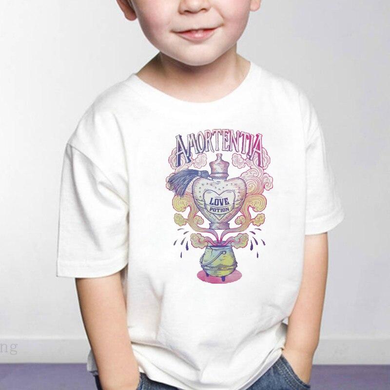 DERMSPE Girls Boys Kids T shirt Print Cartoon Kids Clothing New 2019 Summer Fashion Children Short Sleeve Cotton T shirts White(China)
