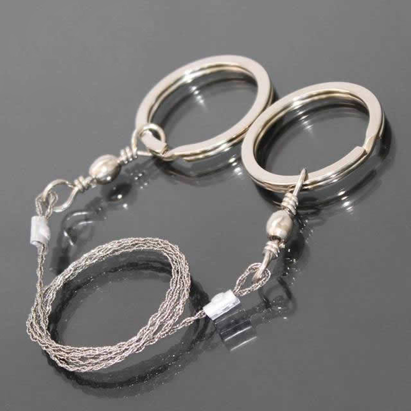 4Pcs/Lot Portable Stainless Steel Wire Saw Outdoor Survival Self Defense Camping Hiking Hunting Chainsaws Hand Saw Fret Saw Too