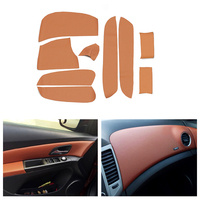 Microfiber Leather Interior Door Armrest / Center Dashboard Panel Covers Protective Trim For Chevrolet Classic Cruze 2009 2015