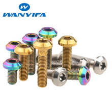 Titanium M8x15 20 25 30 35 40mm GR5 Titanium Ti Hex Socket for Bicycle Disc Motorcycle Brake Rotor Mount Bolt Screw tgou titanium bolt m5x10mm t25 torx head screw for bicycle disc brake rotor 1 pcs