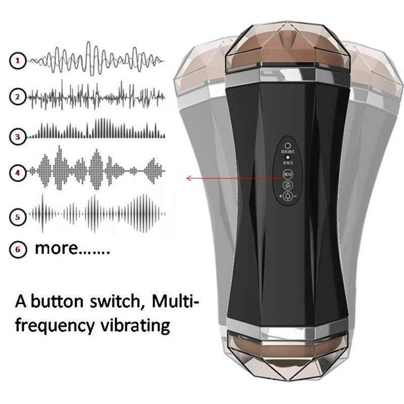 Meselo Luxury Electric Male Masturbator For Man Can Connect Earphone Blowjob Real Vagina Pussy Sex Machine Sex Toys For Men New