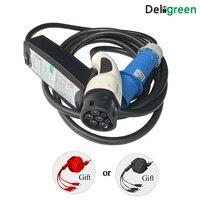 Deligreen EVSE 62196 Европейский EV Зарядное устройство 16A 32A Тип 2 станция зарядки электромобилей Портативный Зарядное устройство EV поставку оборудо