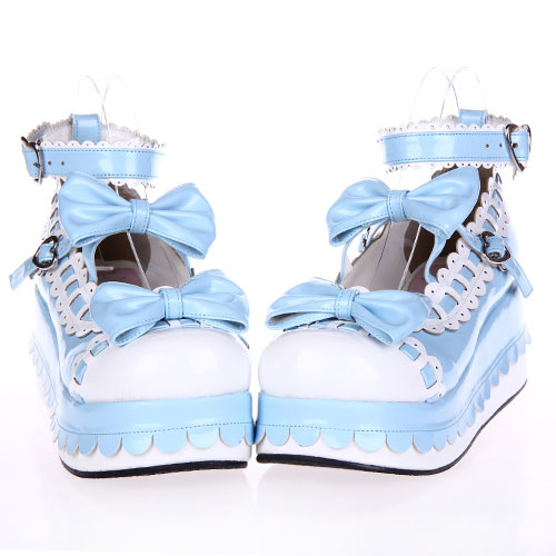forme Lolilloliyoyo Cosplay Shose Lolita Blanc An9896 Plate Douce Antaina multi Pu Laciness Chaussures Ciel Princesse Arc fBq0twc