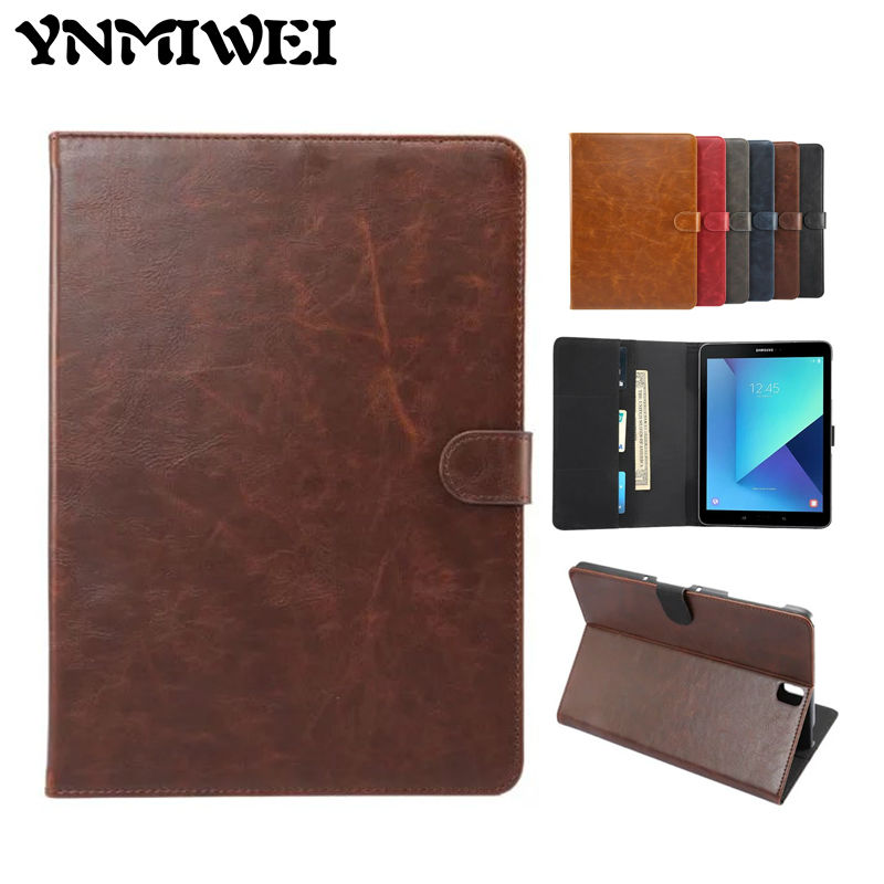 Tab S3 T820 PU Leather Case Slim 9 7 Retro Tablet Case Cover Fundas For Samsung