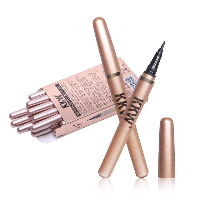 Black Eyeliner Pencil Fast Dry Liquid Eye Liner Pen Women Eyes Makeup Waterproof Eyeliners Make up Cosmetic Tool 4