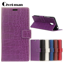 Cover Mobile Phone Case For Meizu M6 M 6 Meilan 5.2 Flip PU Leather TPU Shell Crocodile Durable Holster Card Holder Bag Stand