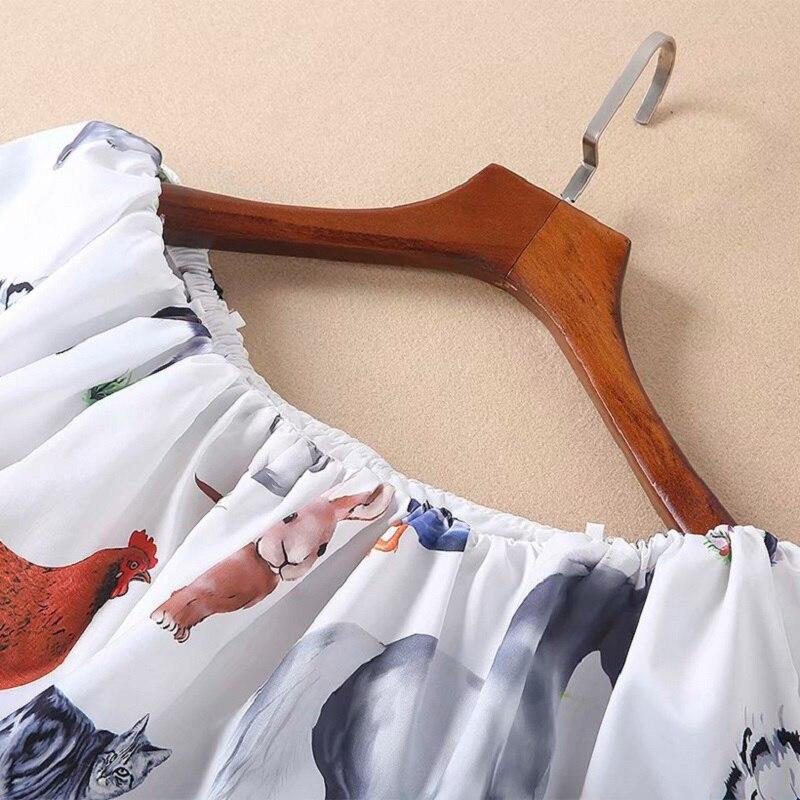 2019 Cheville Sexy Casual Mignon Style longueur Cou Été Dames Club Animal Printemps Nouveau Longue Maxi Robe Print Slash qdCwBqS