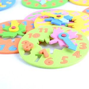 Image 4 - 1ชิ้นเด็กDIY Evaนาฬิกาการเรียนรู้การศึกษาของเล่นสนุกจิ๊กซอว์เกมปริศนาสำหรับเด็ก3 6ปี