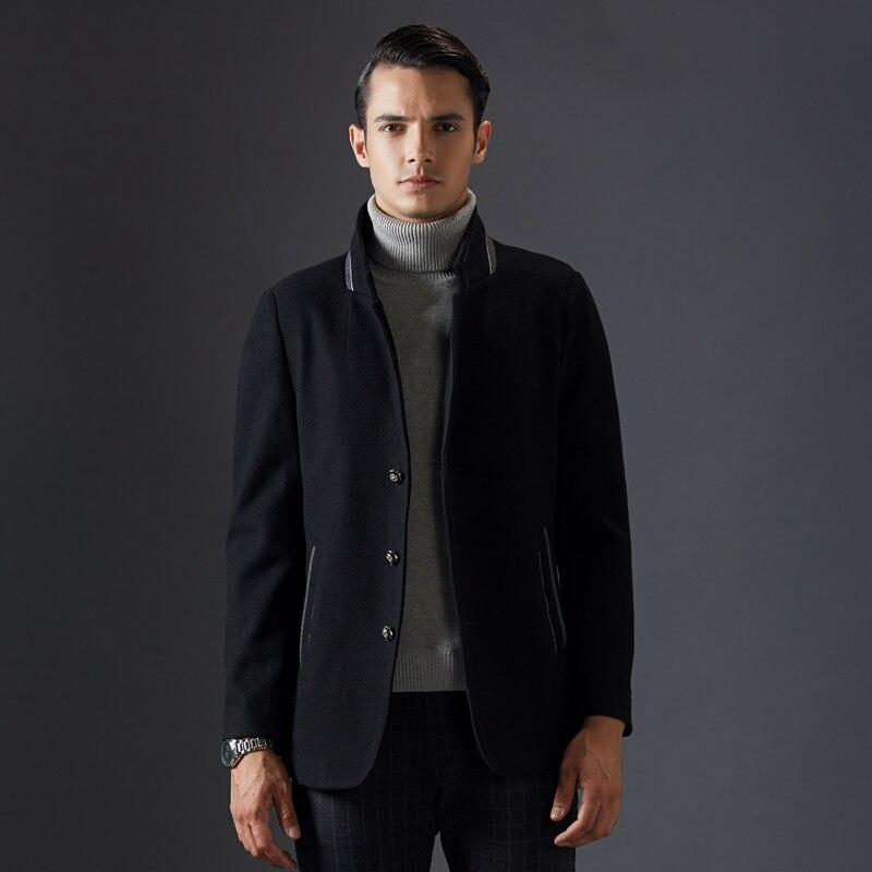 2017 Neue Ankunft Winter Blends Mode Marke Männer Anzüge Jacken Männer Casual Verdicken Slim Fit Wolle Mischung Mantel Warme Männer Der Kleidung Neueste Mode