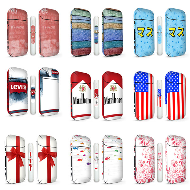15 Colors Cool Design Protective IQOS Sticker For IQOS 2.4 Plus Skin Cover Sleeve Sticker graf design protective decal skin sticker for nintendo 3ds xl 2014