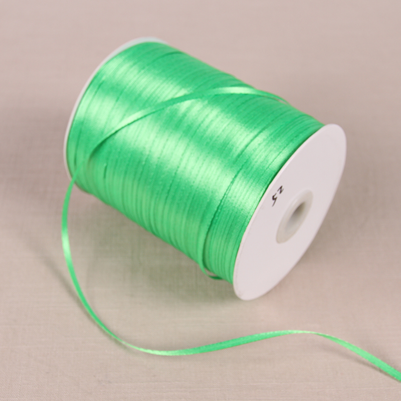 3 мм атласные ленты 22 м/лот DIY ручной работы товары для украшения свадьбы, дня рождения Подарочная упаковка белые ленты - Цвет: Apple Green