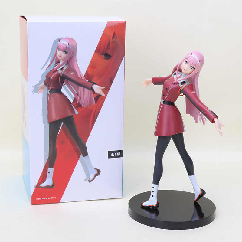 21 centímetros Anime QUERIDO no FRANXX Figura Brinquedo Zero Dois 02 Figura Coleção Ação PVC Modelo Brinquedos Presentes de Natal
