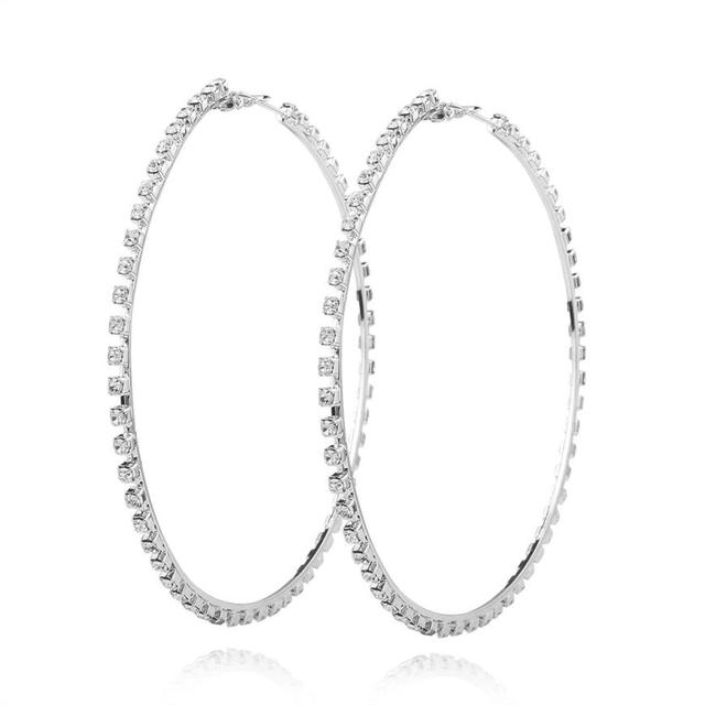Earrings 1 Pair New Fashion Lady Women Thin Round Large Dangle Hoop Loop Dropshipping