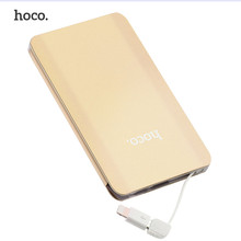 HOCO 5000mAh Card Power Bank Charger For Xiaomi for Iphone External Battery Power bank Universal Mobile Phone PowerBank
