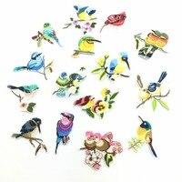 15 шт./компл. Catoon Mix птицы дети Вышивка гладить на Нашивки одежда аппликации пришить Мотив Знак DIY Костюмы сумка