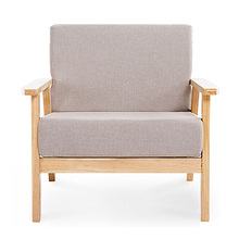 6d8229d0bdf8 Nordic Japanese Small Apartment Removable And Washable Three Fabric Sofa  Single Double Solid Wood Sofa Chair