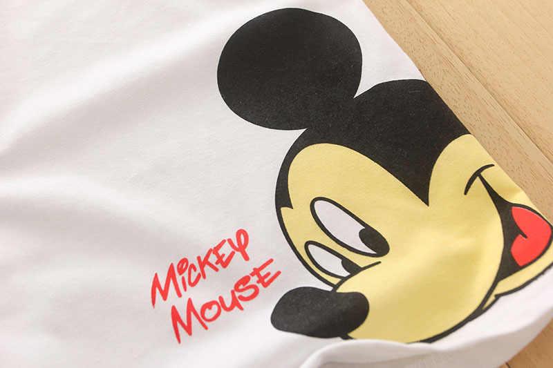 מיקי מיני דונלד ברווז הדפסת קיץ ילדי תינוק בני בנות חולצה ילדים פעוט קריקטורה עכבר כותנה ילד בגדי חולצות Tees