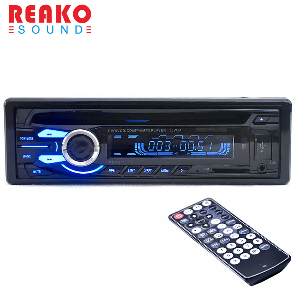 REAKOSOUND 12V Car Audio Stereo DVD / CD Player FM Radios Support USB / SD / MMC and three FM1-FM2-FM3 tuner Remote control car usb sd aux adapter digital music changer mp3 converter for skoda octavia 2007 2011 fits select oem radios