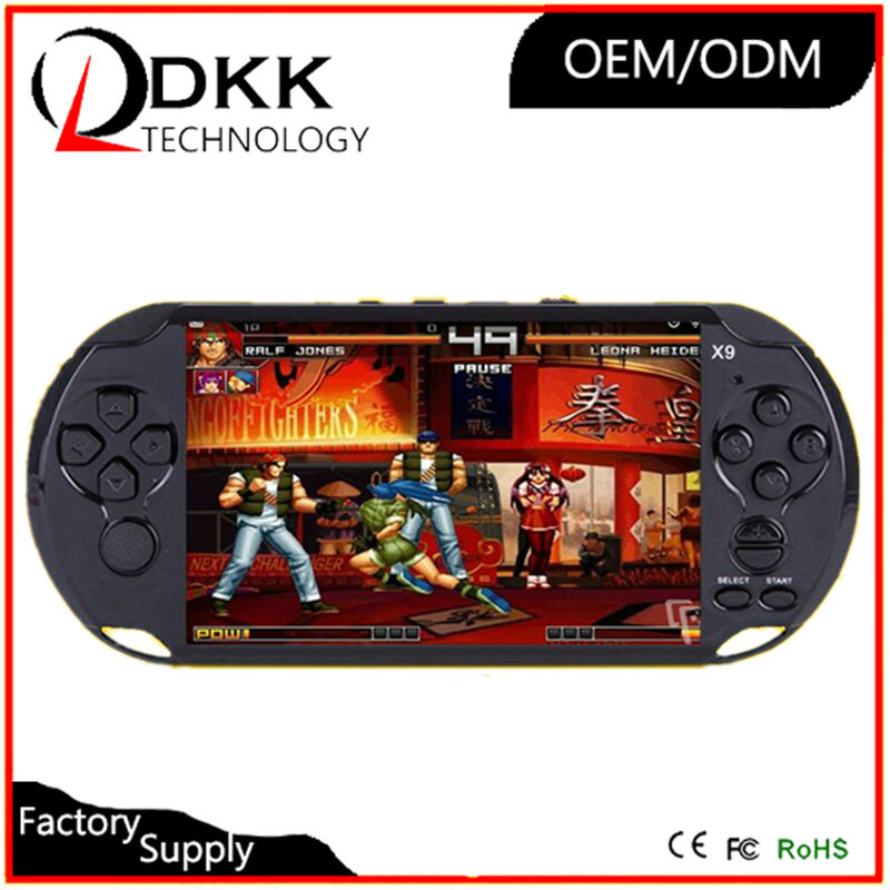 New Arrival big 5 inch screen handheld game console portable with hundreds free different games for