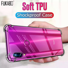 Silicone Shockproof Case For Redmi Note 7 5 6 Pro 4 4X 5 Plus 6A 5A 4A Transparent Case For Xiaomi 8 A2 Lite 9 SE 5 6 6X Cover(China)