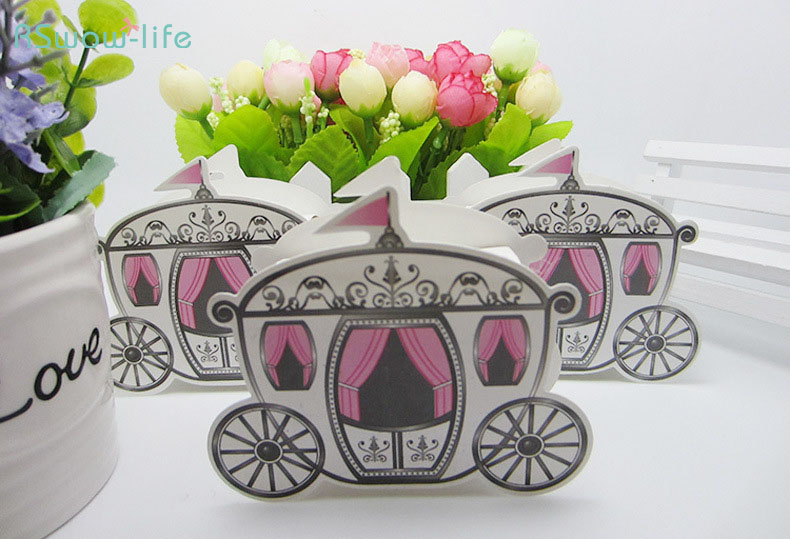 Creative Personality Candy Box Fairy Tale Cart Carton Wedding Supplies Gift Box For Wedding Birthday Party Gifts Candy Package ...