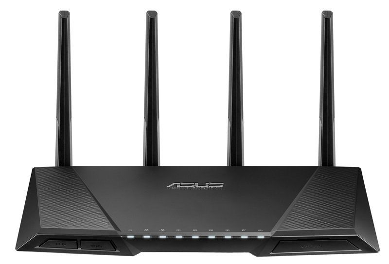 Original Perfect work for asus RT-AC87U 802.11 AC2400Mbps Dual Band Gigabit Router Wireless WiFi Router with 4x4 MU-MIMO Antenna asus rt ac68u wireless router
