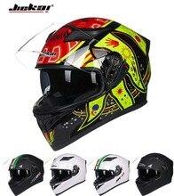 2016 Зима JIEKAI Двойные линзы мотоциклетный шлем Мотокросс анфас мотоцикл шлемы, изготовленные из ABS имеют 9 видов цветов 3 размер