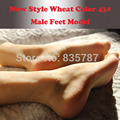 43# 25cm silicone male feet model with inner-bone inside,shoe model,toe can movely F-603