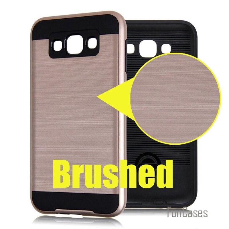 V5 hybrid 2-in-1 silicone armor case for samsung galaxy j1 j3 j5 j7 2016 j2 j1 plastic case anti knock brushed phone covers