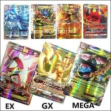 Лучшие продажи сияющие карты pokemones игры битва карт 60 100 120 200 шт торговые карты игры Детские игрушки